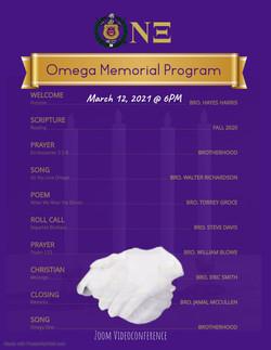 Omega Memorial Program