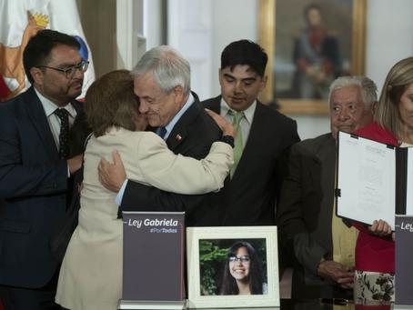 Pdte Piñera promulga Ley Gabriela, que amplía el alcance de las penas por femicidio