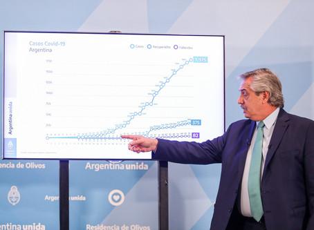 Argentina anunció la extensión del aislamiento social, preventivo y obligatorio hasta el 26 de abril