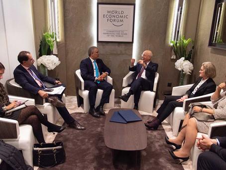 En el Foro Económico Mundial, el Presidente Duque lanzó la estrategia de Biodiverciudades