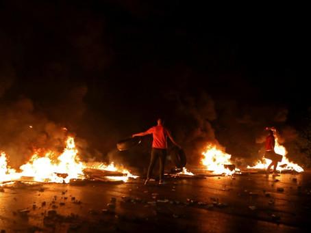 Tensión en Líbano ante el desplome de la moneda y las manifestaciones