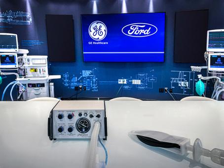 Ford y GE Healthcare producirán 50,000 ventiladores para apoyar a pacientes con COVID-19