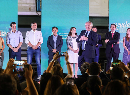 """Pdte Fernandez participó del lanzamiento""""programa nacional Argentina Unida Educación y Trabajo"""""""