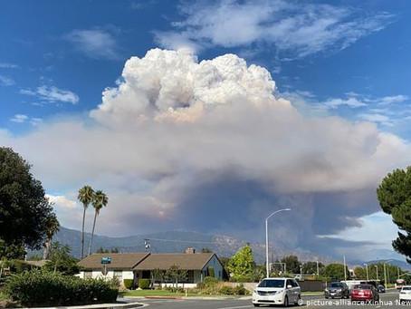 California batalla contra incendios forestales bajo gran ola de calor