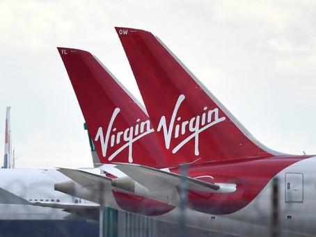 La compañía aérea británica Virgin Alantic anunció el martes la supresión de más de 3.000 puestos de