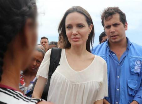 Angelina Jolie urge apoyo internacional para miles de niños venezolanos inmigrantes