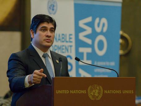 Pdte Alvarado presenta Plan de Descarbonización como ejemplo de economía justa e inclusiva