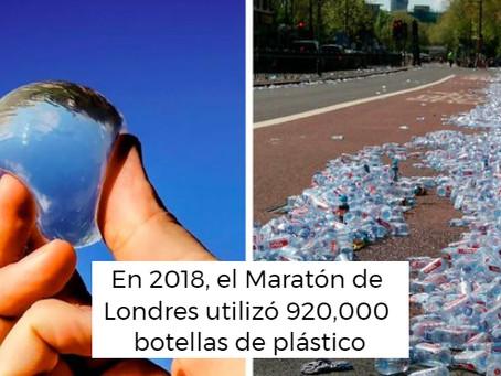 Maratón de Londres reemplaza las botellas de agua con cápsulas de agua biodegradables y comestibles