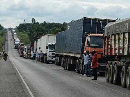 África del Este teme que los camioneros se conviertan en vectores del coronavirus