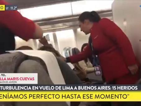 15 heridos por turbulencias en un vuelo Lima-Buenos Aires