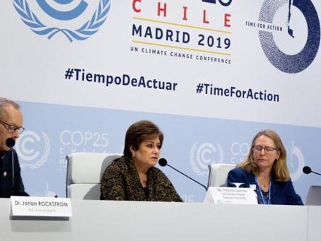 """Patricia Espinosa en COP25: """"La ciencia debe ser el lenguaje común para impulsar Ambición climatica"""
