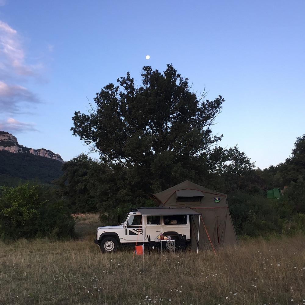 le premier bivouac dans les Pyrénées