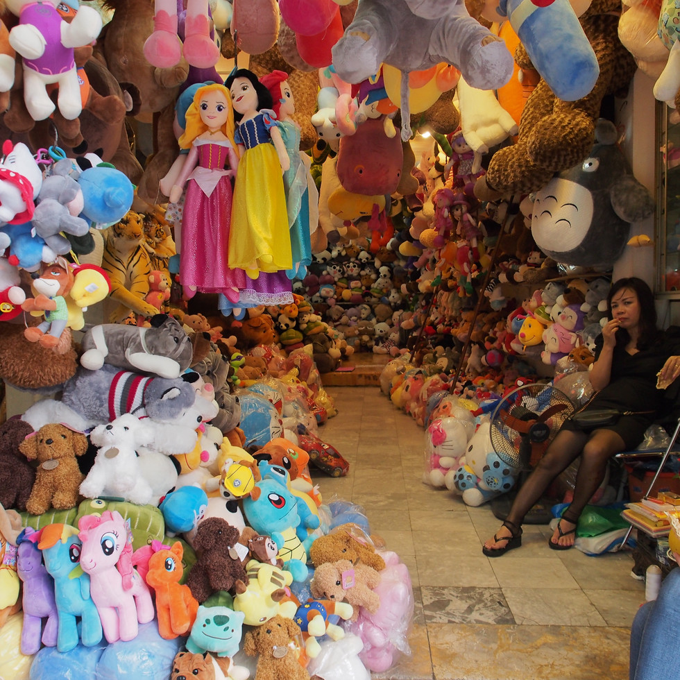 boutique de jouet dans les rues du vieux Hanoï