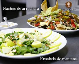 Salad and Nachos