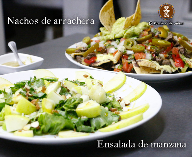 Salad and Nachos