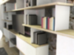 TAKA Bibliothèque Library TV unit Meuble TV