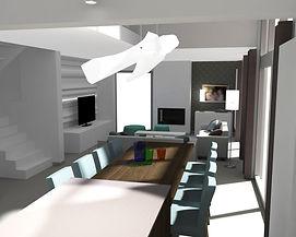 Projet de salle à manger et nouveau mobilier de salon.