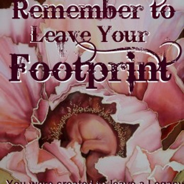 Remember to Leave Your Footprint Interactive Manual by Mandy Adendorff