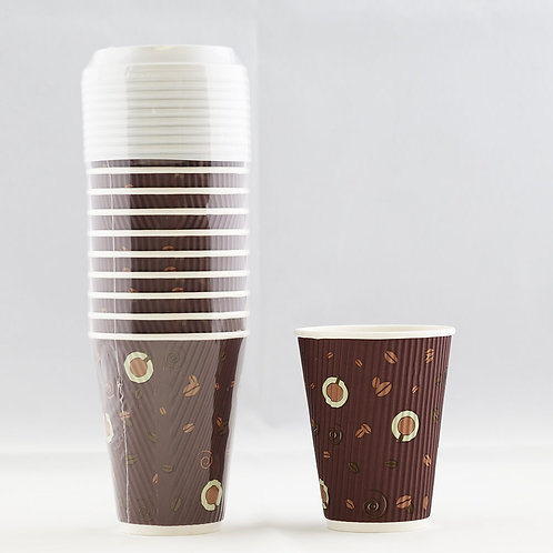 Rippled Paper Cup 12 Oz. - كوب ورقي متموج 12 أوقيّة