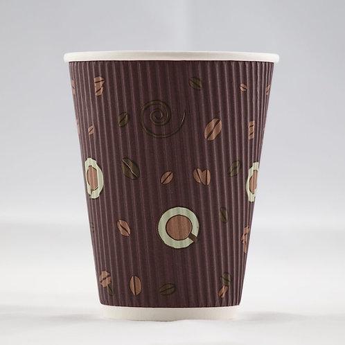 Rippled Paper Cup 12 oz. - كوب جدار  متموج 12 أوقية