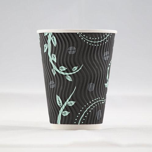 Rippled PaperCup S-Shape 12 oz. - كوب ورقي  مموج مقاس 12 أوقيّة