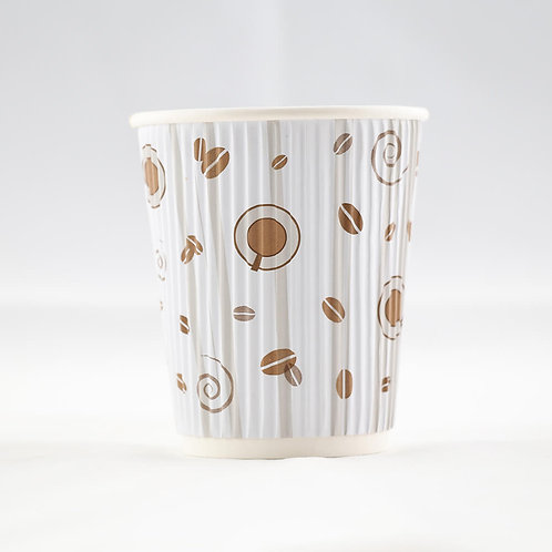 Rippled Paper Cup 8 oz. - كوب متموج 8 أوقيات