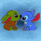 Stitch & The Child Touching Noses