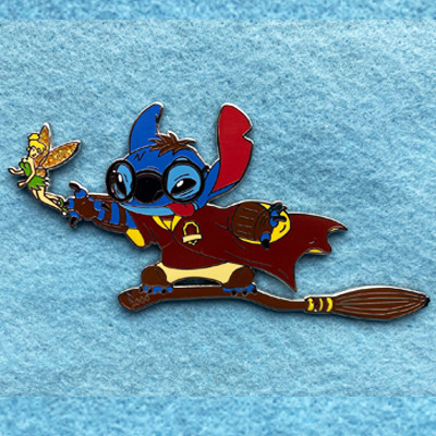 Harry Potter Stitch playing Quidditch