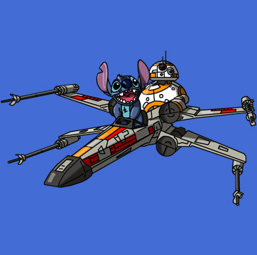Stitch & BB8 Flying X-Wing.jpg