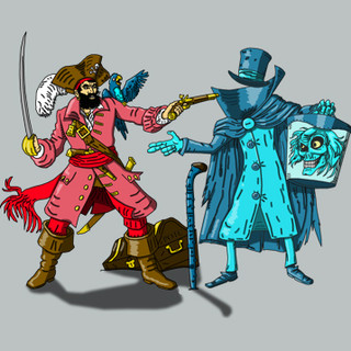 Pointless Duel Haunted Mansion and Pirat