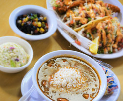 Shrimp N Stuff Gumbo, Taco