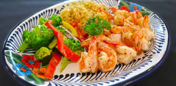 Grilled Shrimp with veggies