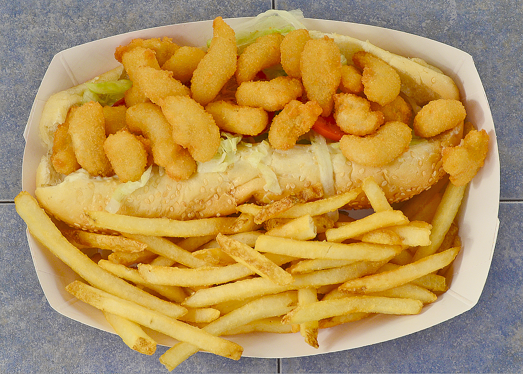 popcorn Shrimp Po-boy