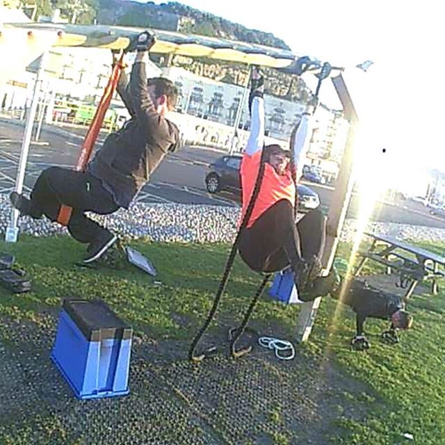 Check these dudes out,  training upper body scapula control and inverted press,  right after a leg d
