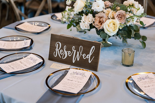 Reserved sign - 2