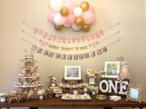Bunny birthday party set