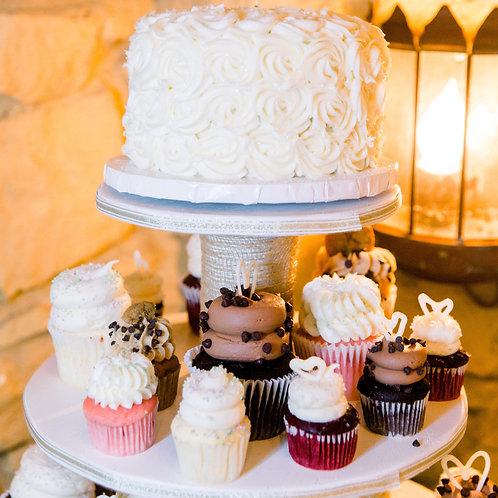 5-tiered cupcake/dessert tower