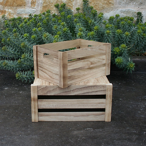 Light wood crates
