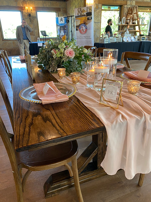 Blush Chiffon table runner