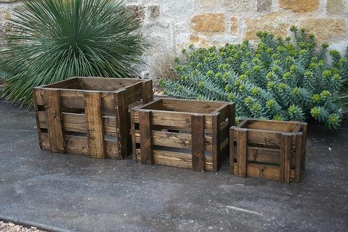 Handmade Rustic Wooden Crates