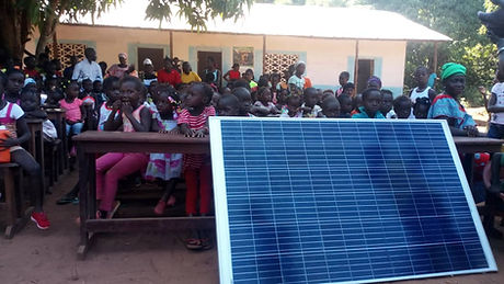 escuelas con luz 3 panel solar amizade g