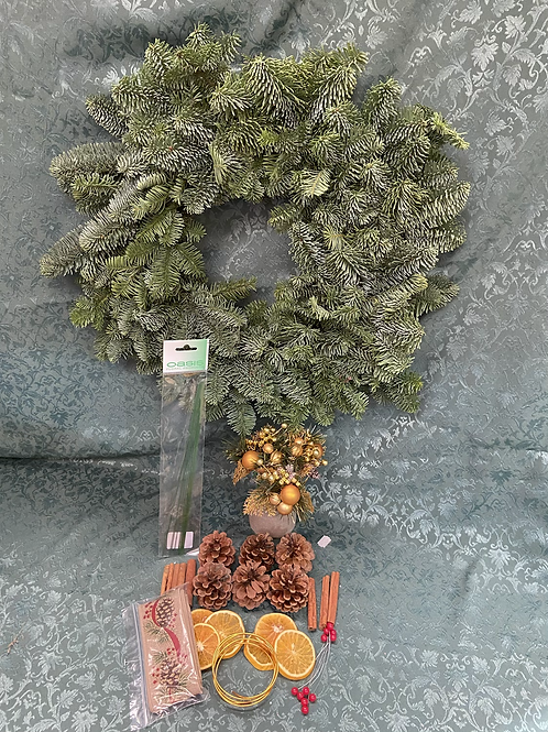 Pine Wreath home DIY kit