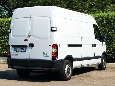 Commercial van with UFO Lock Installed