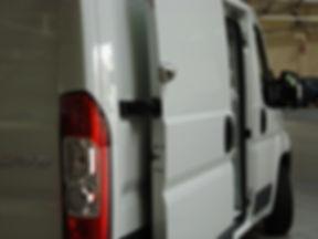 UFO+ lock installed on Dodge Ram Promaster Sliding Door