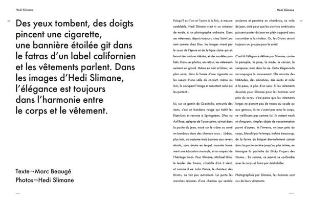 Hedi Slimane Special in Modzik Magazine Editor-in-Chief: Nora Baldenweg