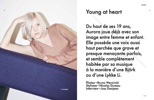 Aurora shot by Bruno Werzinski for Modzik Magazine Editor-in-Chief: Nora Baldenweg