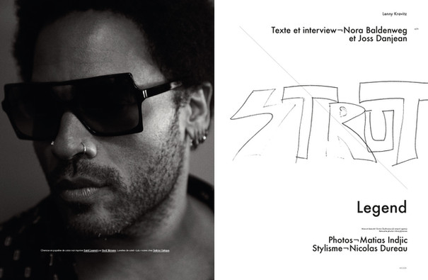 Lenny Kravitz shot by Matias Indjic for Modzik Magazine Editor-in-Chief: Nora Baldenweg