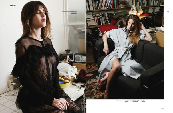 Jeanne Damas, Eleonore Toulin et Solène Hebert shot by Alex Antitch for Modzik Magazine Editor-in-Chief: Nora Baldenweg