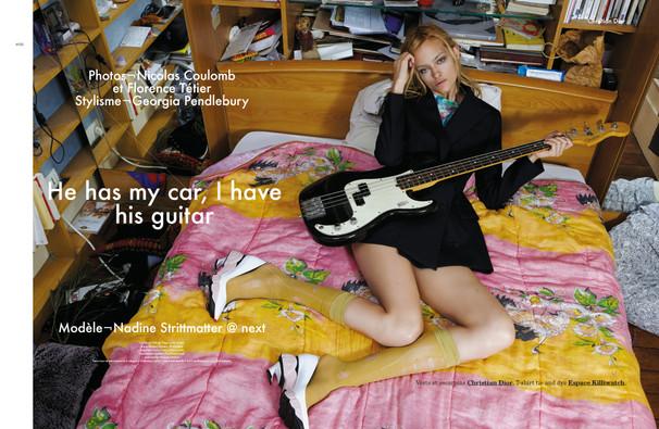 Nadine Strittmatter shot by Nicolas Coulomb et Florence Tétier for Modzik Magazine Editor-in-Chief: Nora Baldenweg