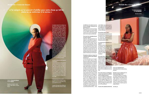 Michelle Elie shot by Felix Von der Osten for Modzik Magazine Editor-in-Chief: Nora Baldenweg